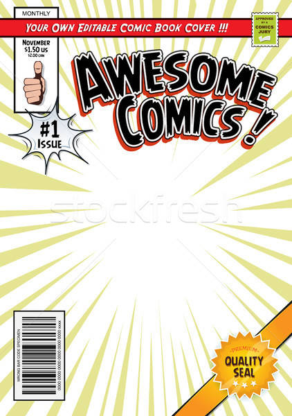 Comic Book Cover Template Stock photo © benchart