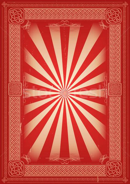 ヴィンテージ レトロな ケルト パターン 実例 ポスター ストックフォト © benchart