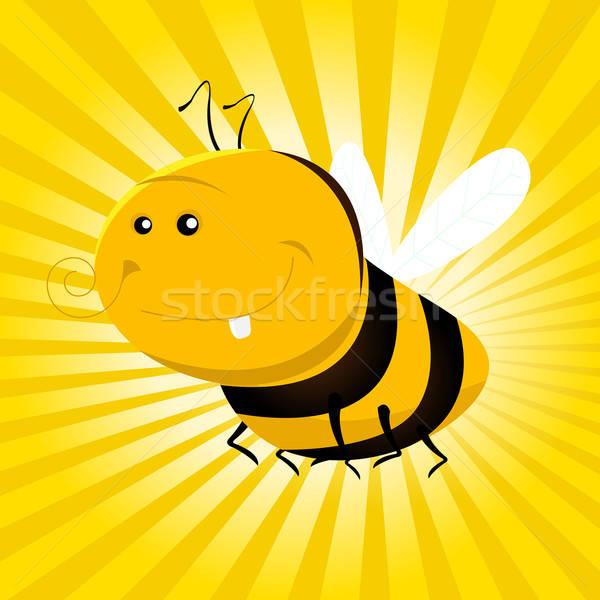 Cartoon Funny Bee Stock photo © benchart