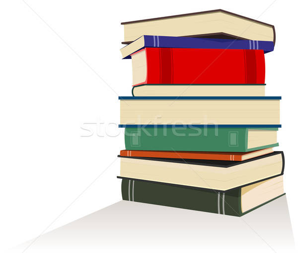 Książek ilustracja szkoły pracy czytania Zdjęcia stock © benchart