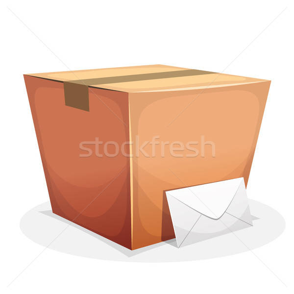 Mail Delivery With Cardboard And Envelope Stock photo © benchart