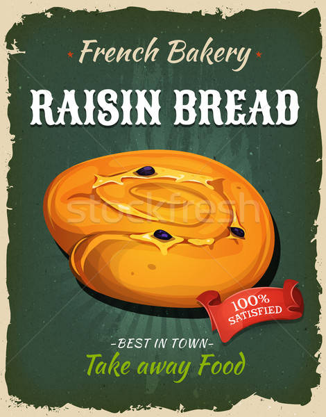 Retro Raisin Bread Poster Stock photo © benchart
