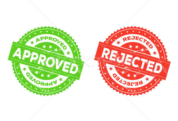 Approved And Rejected Stamp Stock photo © benchart