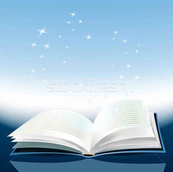 Magic książki ilustracja klasie badania Zdjęcia stock © benchart