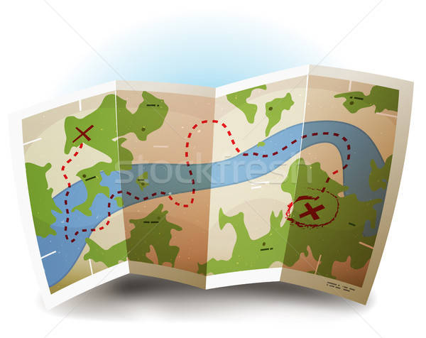 Earth Map Icon Stock photo © benchart