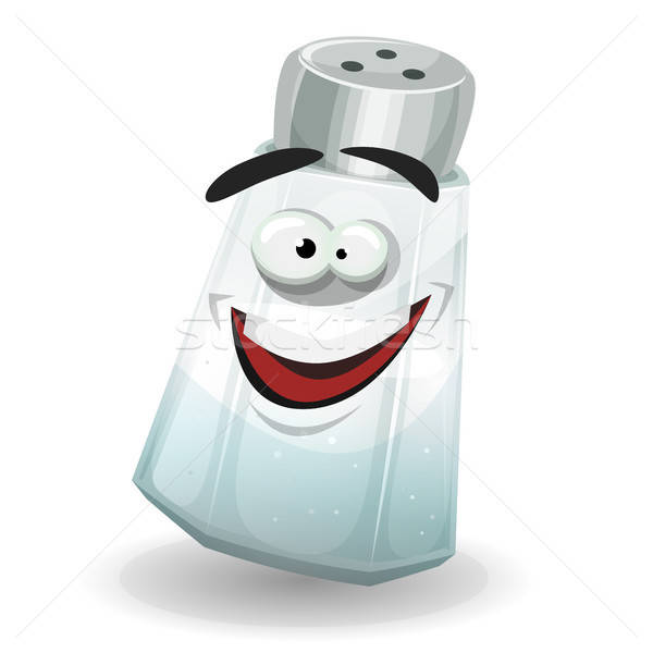 Happy Salt Shaker Character Stock photo © benchart