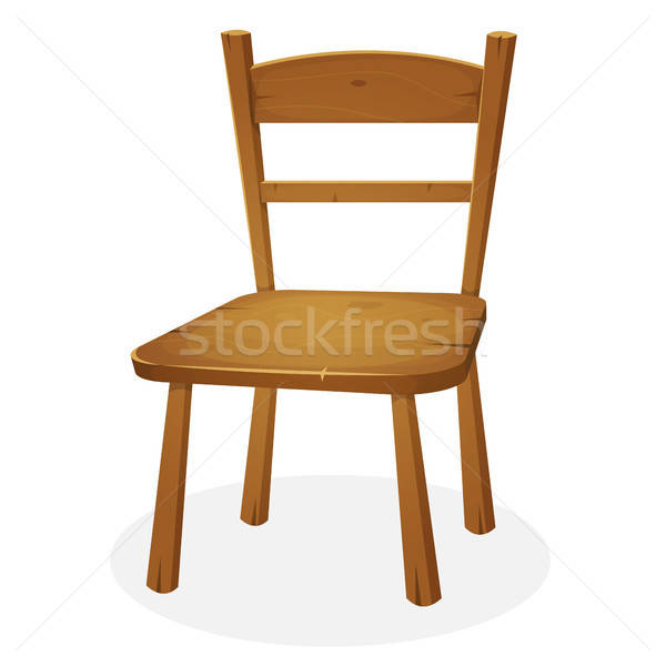 Wood Kitchen Seat Stock photo © benchart