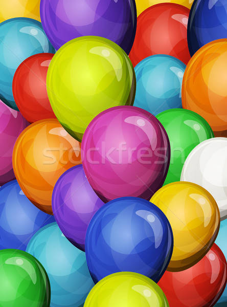 Carnival Party Balloons Background Stock photo © benchart