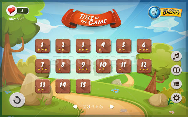 Game User Interface Design For Tablet Stock photo © benchart