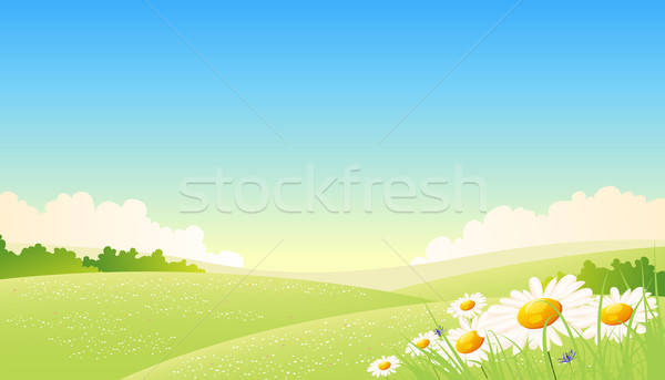 Spring Or Summer Seasons Poster Stock photo © benchart