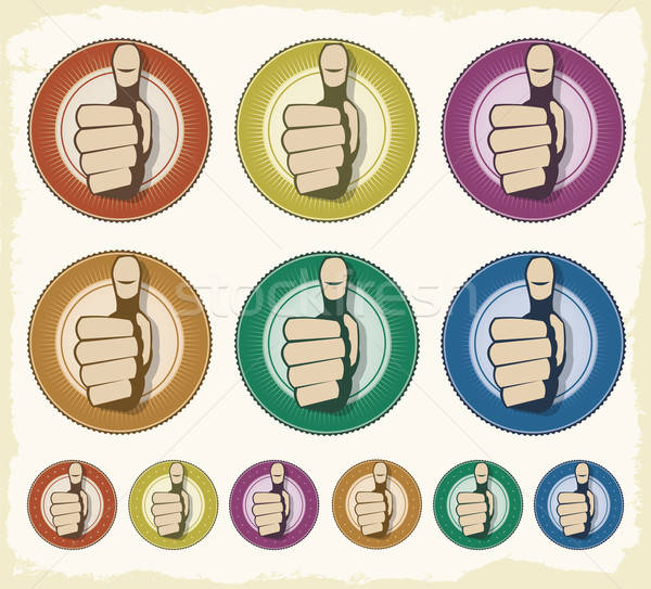 Gecertificeerd kwaliteit zegel logo illustratie vintage Stockfoto © benchart