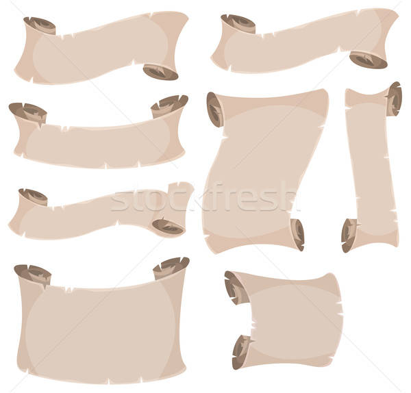Parchment Scroll And Banners Set Stock photo © benchart
