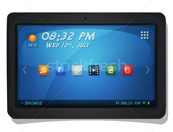 Digital Tablet PC With OS Icons Stock photo © benchart