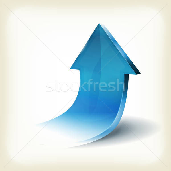 Blue Arrow Rising Up For Business Infographics Stock photo © benchart