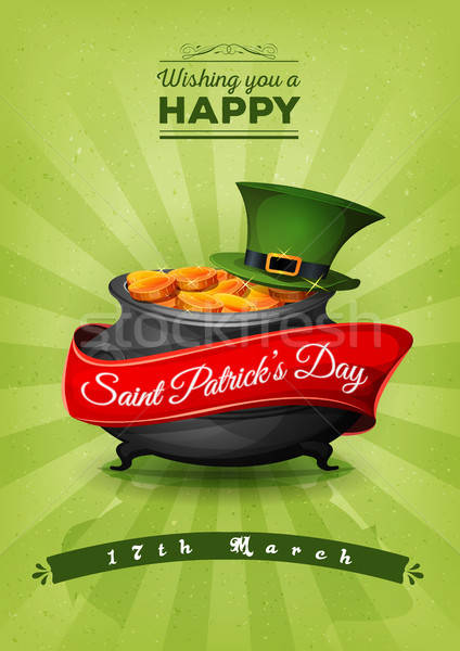Happy St. Patrick's Day Retro Postcard Stock photo © benchart