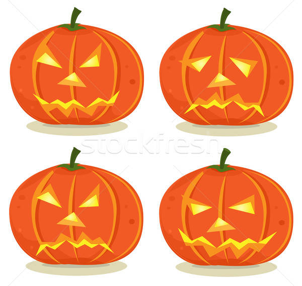 Halloween Pumpkins Set Stock photo © benchart