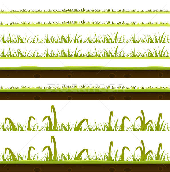 Grass And Lawn Layers Set Stock photo © benchart