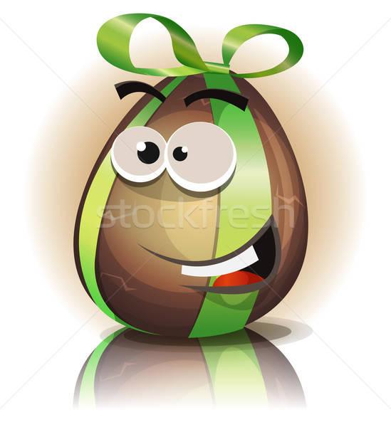 Stok fotoğraf: Karikatür · çikolata · easter · egg · karakter · örnek · komik