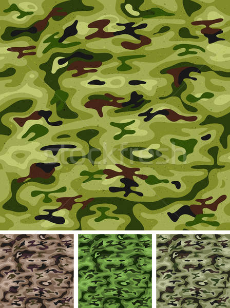 Seamless Military And Hunting Camo Stock photo © benchart