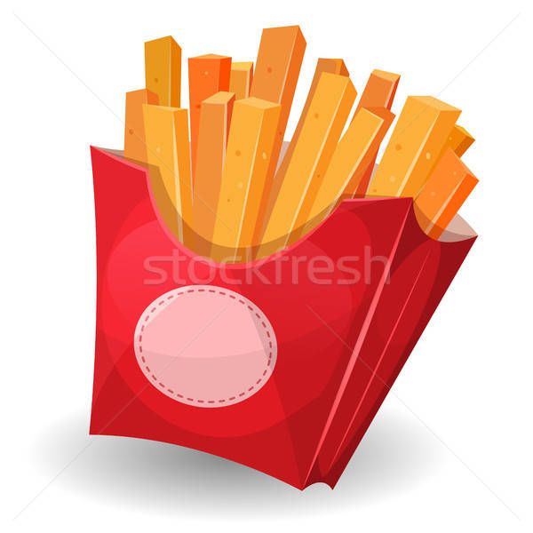 French Fries Inside Red Package Stock photo © benchart