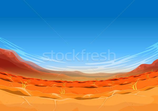 Seamless Far West Desert Landscape For Ui Game Stock photo © benchart