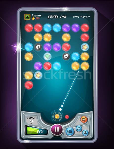Bubble Game User Interface Stock photo © benchart