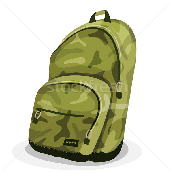 Schoolbag With Camouflage Patterns Stock photo © benchart