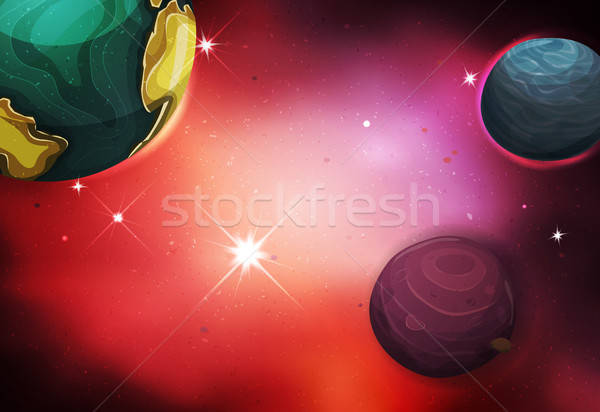 Space Background Stock photo © benchart