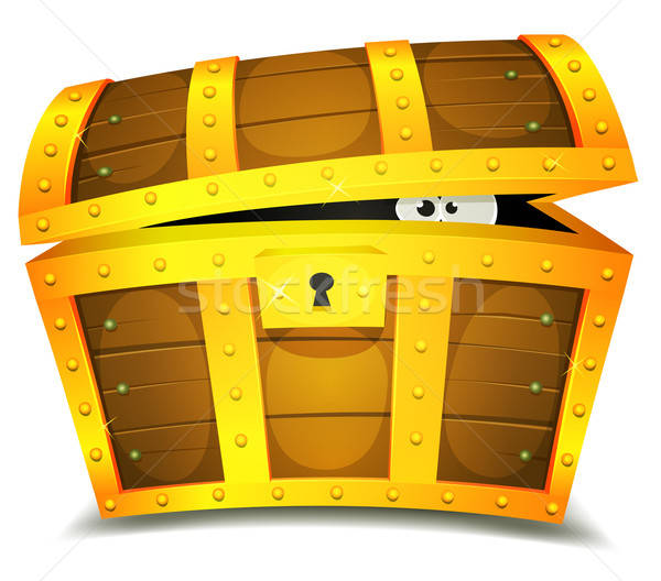 Hiding Inside Treasure Chest Stock photo © benchart