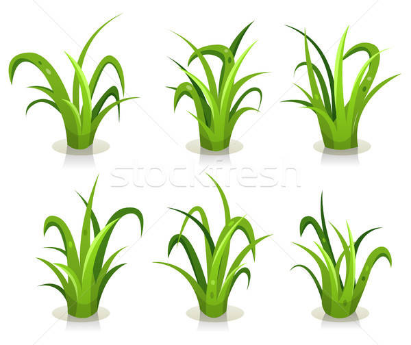 Grass Leaves Set Stock photo © benchart