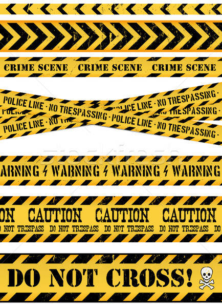 Police ligne scène de crime avertissement illustration Photo stock © benchart