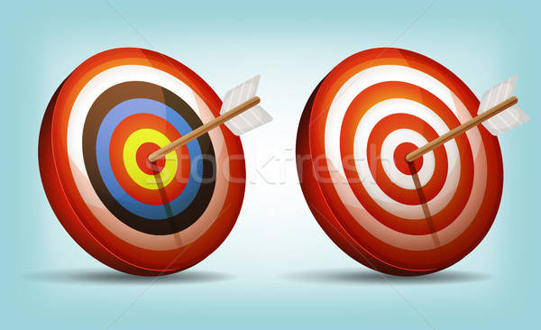 Dart target arrow illustrazione set cartoon Foto d'archivio © benchart