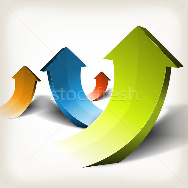 Abstract Rising Arrows Stock photo © benchart