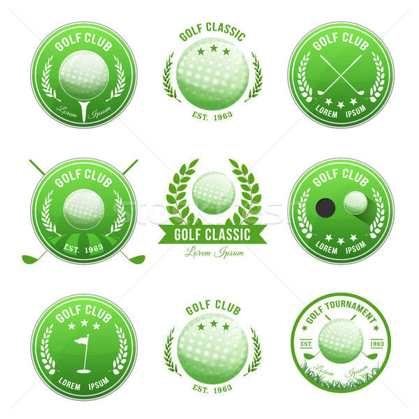 Golf Club Banners And Badges Set Stock photo © benchart