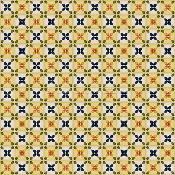Seamless Wallpaper With Portuguese Tiles Stock photo © benchart
