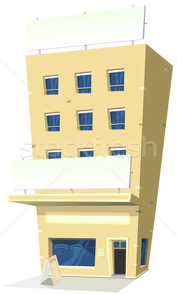 Cartoon posada restaurante ilustración hotel banner Foto stock © benchart