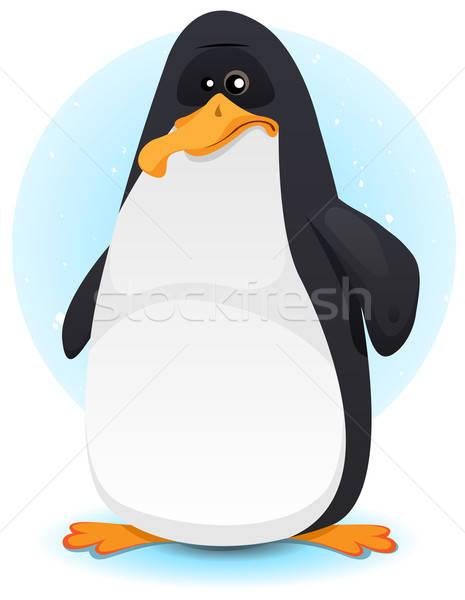 かわいい ペンギン 文字 実例 漫画 ストックフォト © benchart