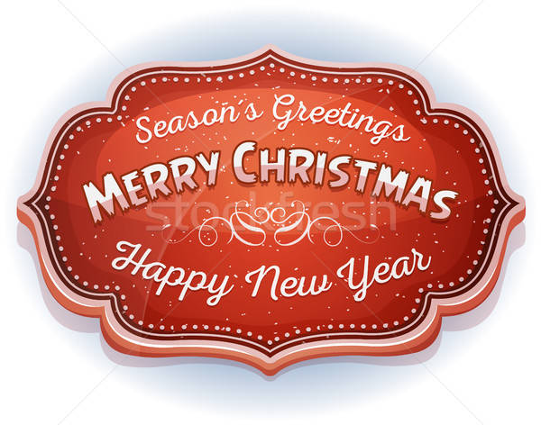 Happy New Year And Season's Greetings Badge Stock photo © benchart