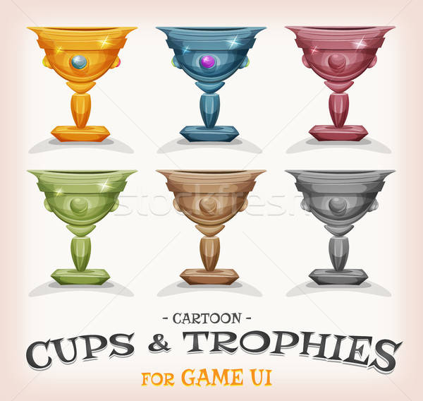 Winners Cups And Trophies For Game UI Stock photo © benchart