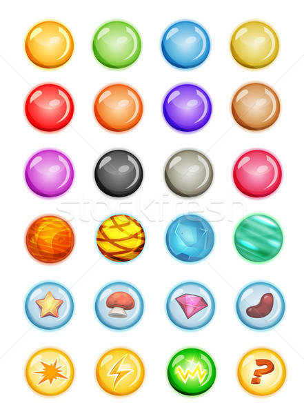 Ingesteld bubbels magie spel ui Stockfoto © benchart