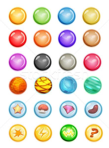 Set bolle magia gioco ui Foto d'archivio © benchart