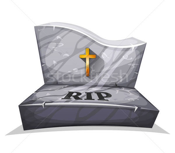 Christian Marble Tombstone With RIP Stock photo © benchart