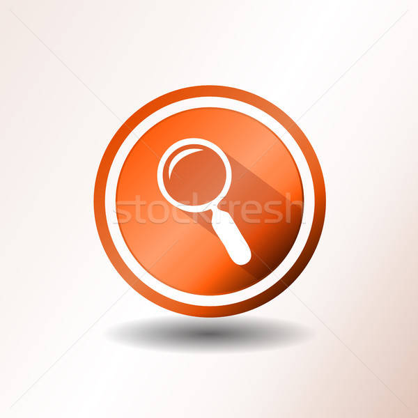 поисковая кнопки дизайна иллюстрация оранжевый увеличительное стекло Сток-фото © benchart