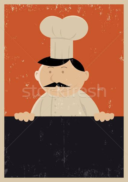 Grunge Chef Menu Poster Stock photo © benchart
