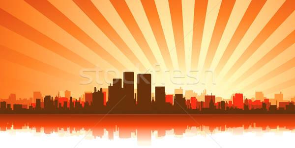 Summer Cityscape Background Stock photo © benchart