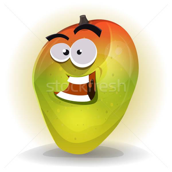 Cartoon Funny Mango Character Stock photo © benchart