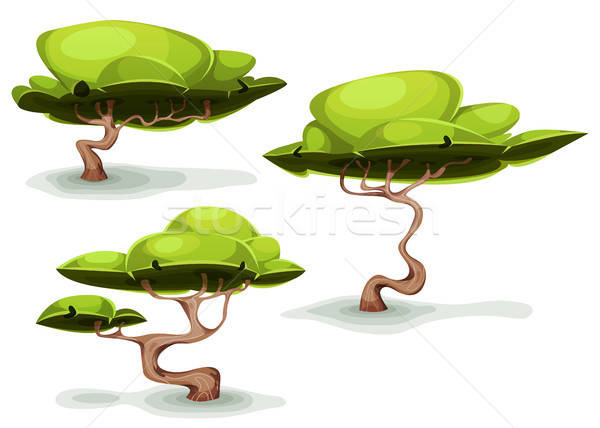 Funny Weird Trees For Fantasy Scenics Stock photo © benchart