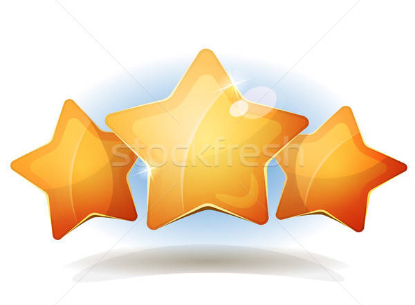 Funny Three Stars Icons For Ui Game Score Stock photo © benchart