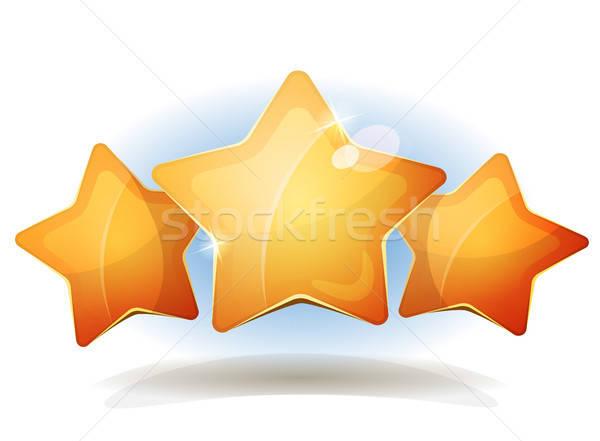 面白い 3  星 アイコン ui ゲーム ストックフォト © benchart