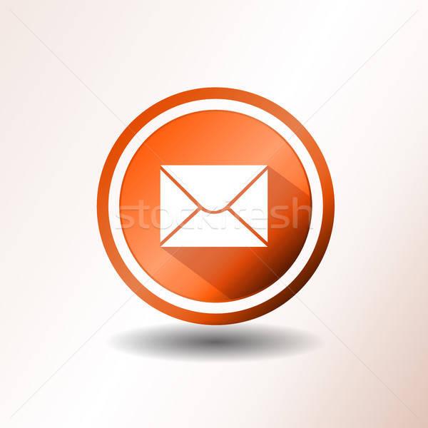 Stock fotó: Email · ikon · terv · illusztráció · kapcsolat · támogatás